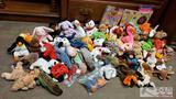 Collection of Approx 54 TY Beanie Baby's