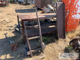 Metal Workbench, Ramp, and Dolly