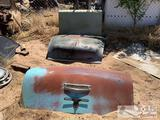 1950?s Chevy hood and deck lid and 1960?s mustang trunk lid