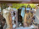 3 Ford v-8 Engine Blocks