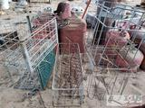 7 Metal Crates and Baskets