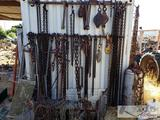 Huge Lot of Chains, Chain Binders, and Hooks