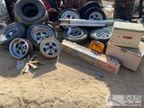 Cragar wheels, Coleman Ice Chest, Gas Can, Shop Lights and More