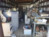 Shelving, Cabinets, Bandsaw, Gas Can, Montgomery Ward Welder, and More