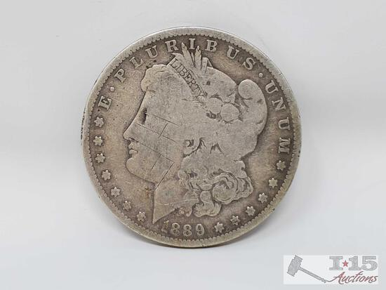 1 1889 Morgan Silver Dollar