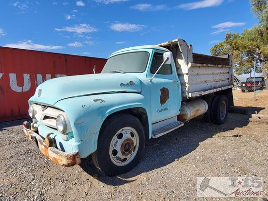 1955 Ford F600 Dump Truck Sold on Non Op