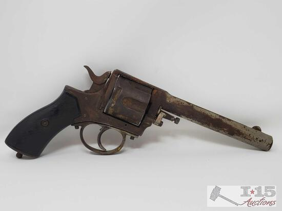 Antique Frontier Army Revolver With Small Revolver Case