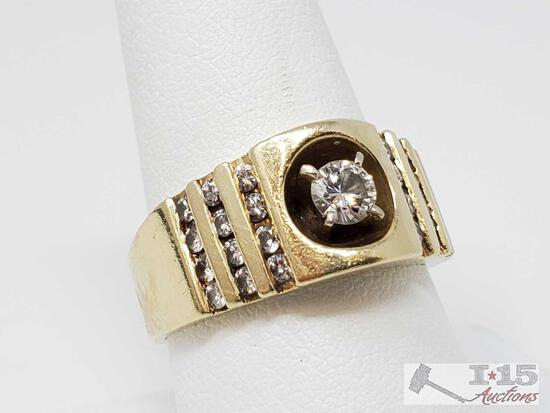 14k Gold Diamond Ring, 10.83g