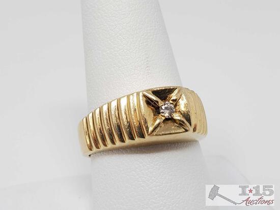 14k Gold Diamond Ring, 7.67g