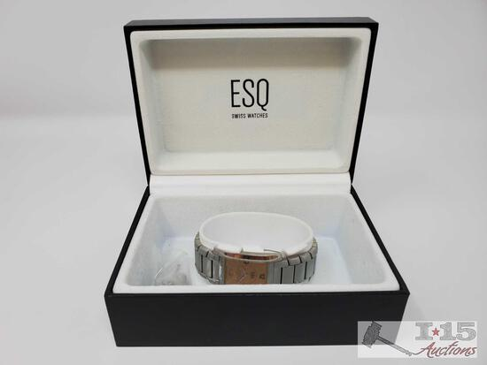 ESQ Swiss Watch Comes With Extra Watch Links, and Box