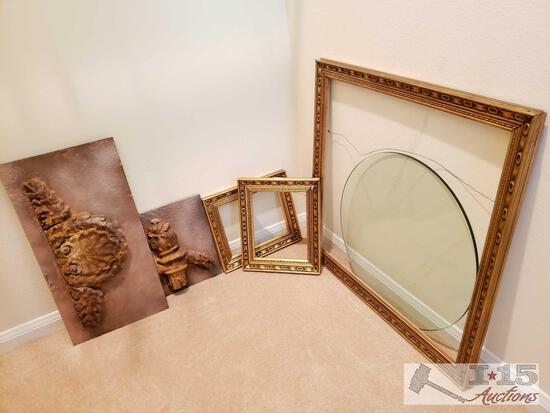 Wall Decor, 3 Frames, And Tempered Glass