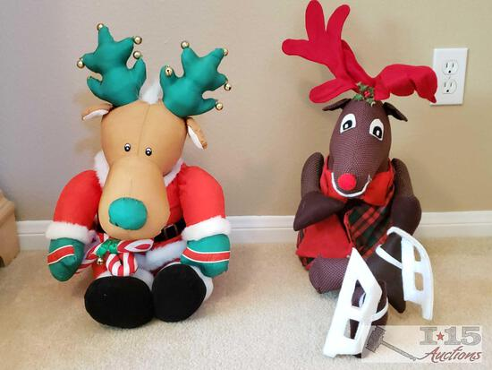 2 Christmas Stuffed Animals