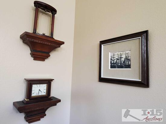 2 Floating Shelves, Clock, Framed Art Work, and More!