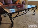 Glasstop Coffee Table and 2 End Tables