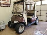 EZ Go RXV Flt Electric Golf Cart with Battery Charger