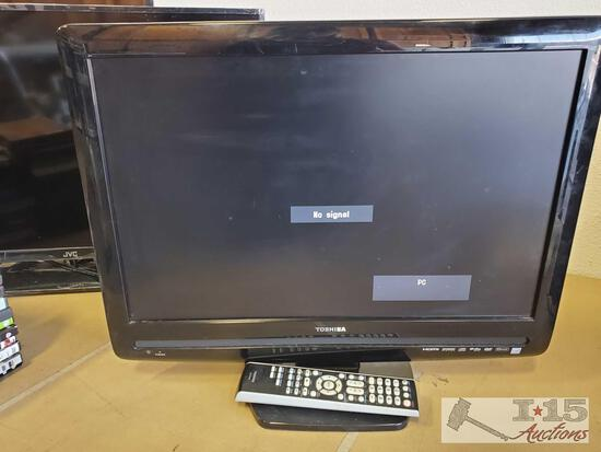 "22"" Toshiba TV with Power Cord and Remote"