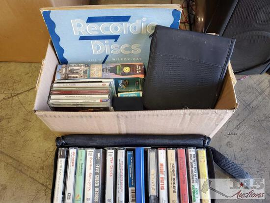 Cassette Tapes, Records and CDs