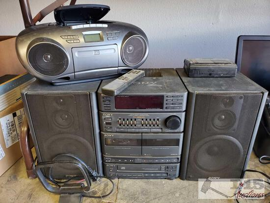 Sony Component System, Insignia Radio and Cassette-Corder