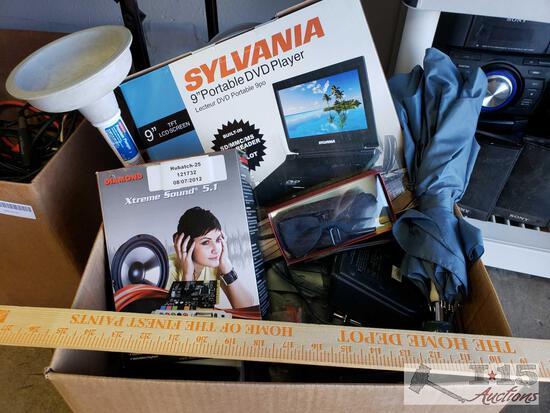 Diamond Extreme Sound 5.1, Sylvania Portable DVD player, Tape Recorder and More