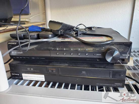 Sony Home Theater System and Sony Video Cassette Recorder