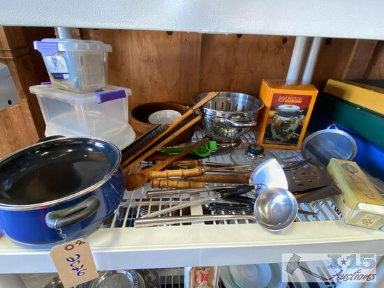 Ceramic Pot, Canister, Cooking Utensils, Wooden Bowls and More