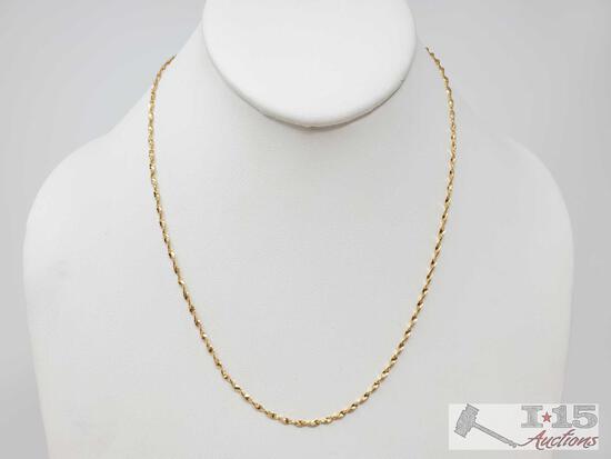 18k Gold Twist Chain- 3.2g
