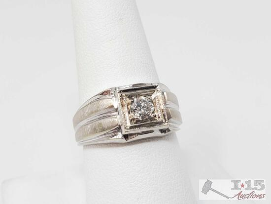 14k Gold Diamond Ring- 7.5g