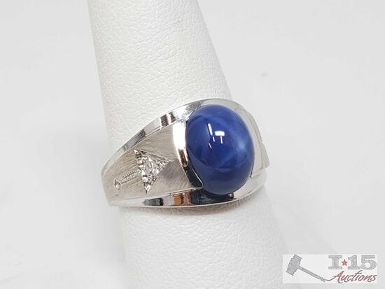 14k Gold Diamond Ring- 6.7g