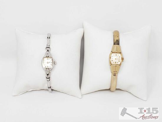2 Bulova 10k Gold Vintage Watches- 24.2g