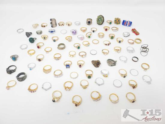 Approx 70 Costume Rings