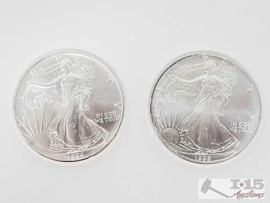 2 Walking Liberty Fine Silver Coins
