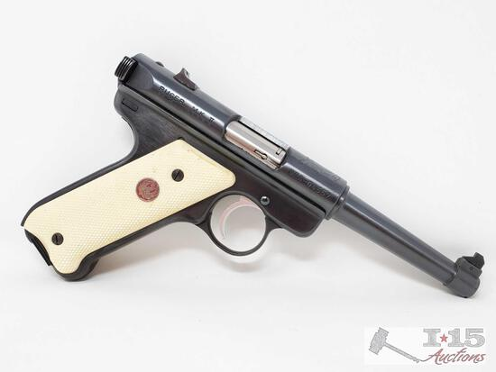 Ruger M.K.II .22 Cal LR Semi-Auto Pistol With 3 Magazines