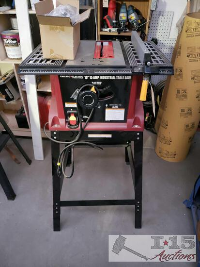"Chicago Electric 10"" Table Saw on Stand"