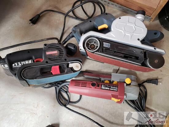Craftsman Belt Sander, Chicago Electric Belt Sander and Chicago Electric Bandfile