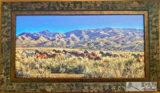 """Running Free"" Print on Canvas by Rhonda Graham"