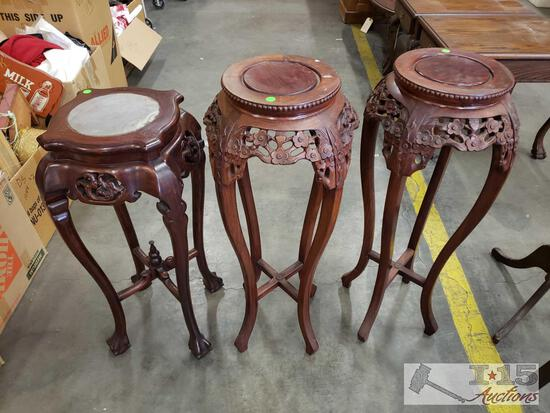 Asian Carved Plant Stands