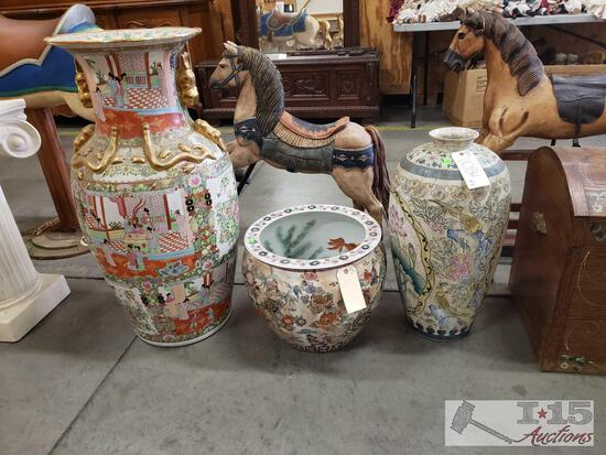 Asain Vases And Pot
