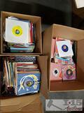 3 Boxes of Vinyl 45s