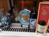 Pear Harbor Survivors Beam Decanter, Tokaji and Frank Sinatra Bottles