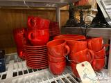 Red Dish Set