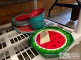 Watermelon Plastic Plates