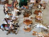 12 Carousel Horse Figurines