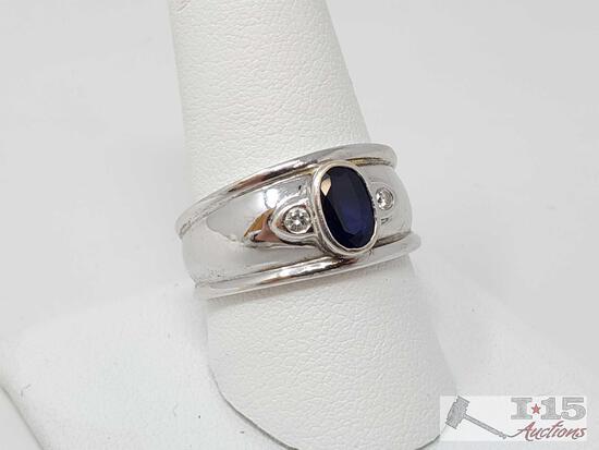 14k Gold Diamond Ring, 9.4g