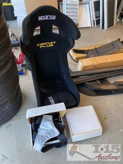 Sparco Circuit Plus Seat and Two Teamtech 6 Point Harnesses