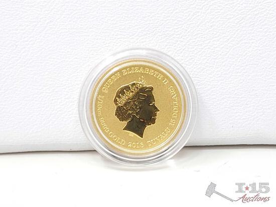 Pearl Harbor 15th Anniversary 1/10 Oz Gold Bullion Coin With COA