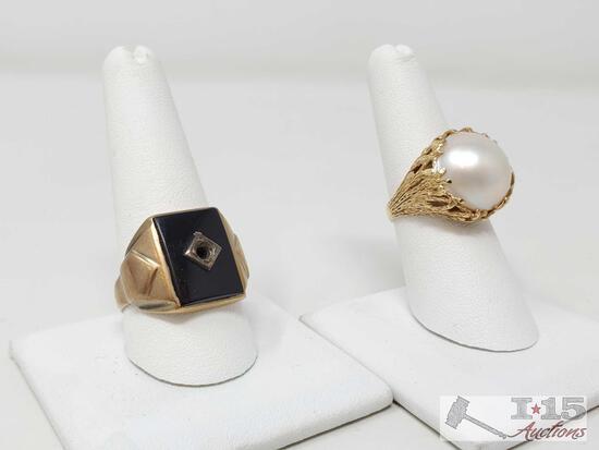 2 10k Gold Rings, 14.5g