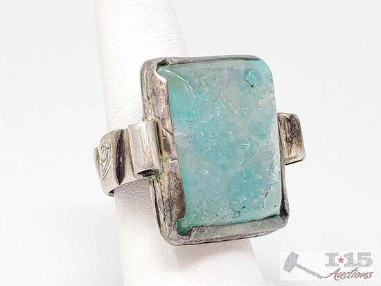 Sterling Silver Ring, 20g