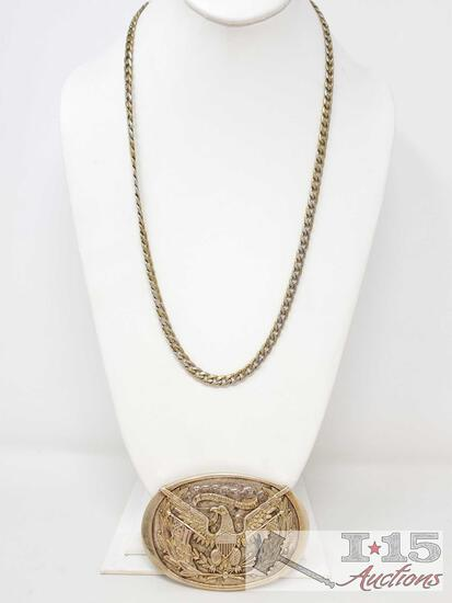 Chain Necklace And Belt Buckle