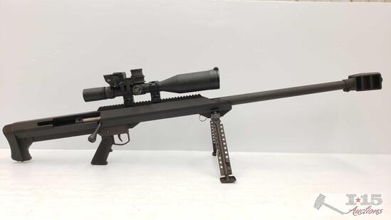 Barrett M-99 .416 32'' Heavy Bolt-Action Rifle w/ Nightforce Scope & Pelican Case