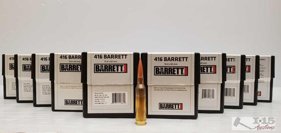 100 Rounds Of .416 Barrett - 452 GR 10.4 x 83mm